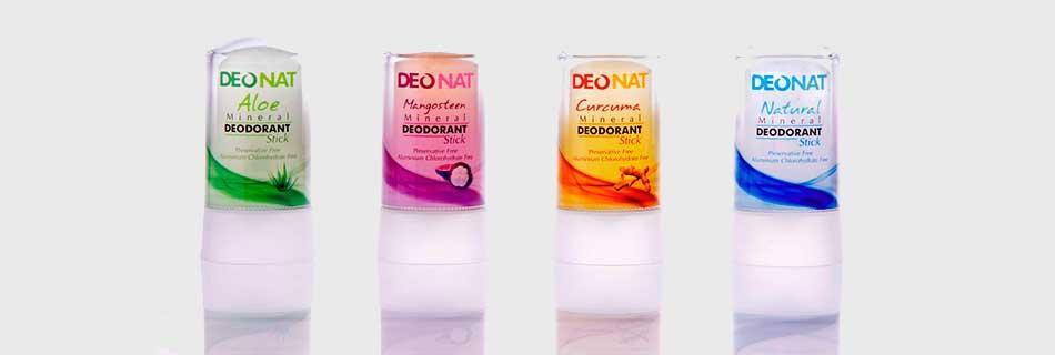 Фото: виды натуральных дезодорантов Деонат